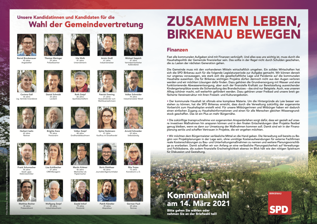 Programm SPD Birkenau