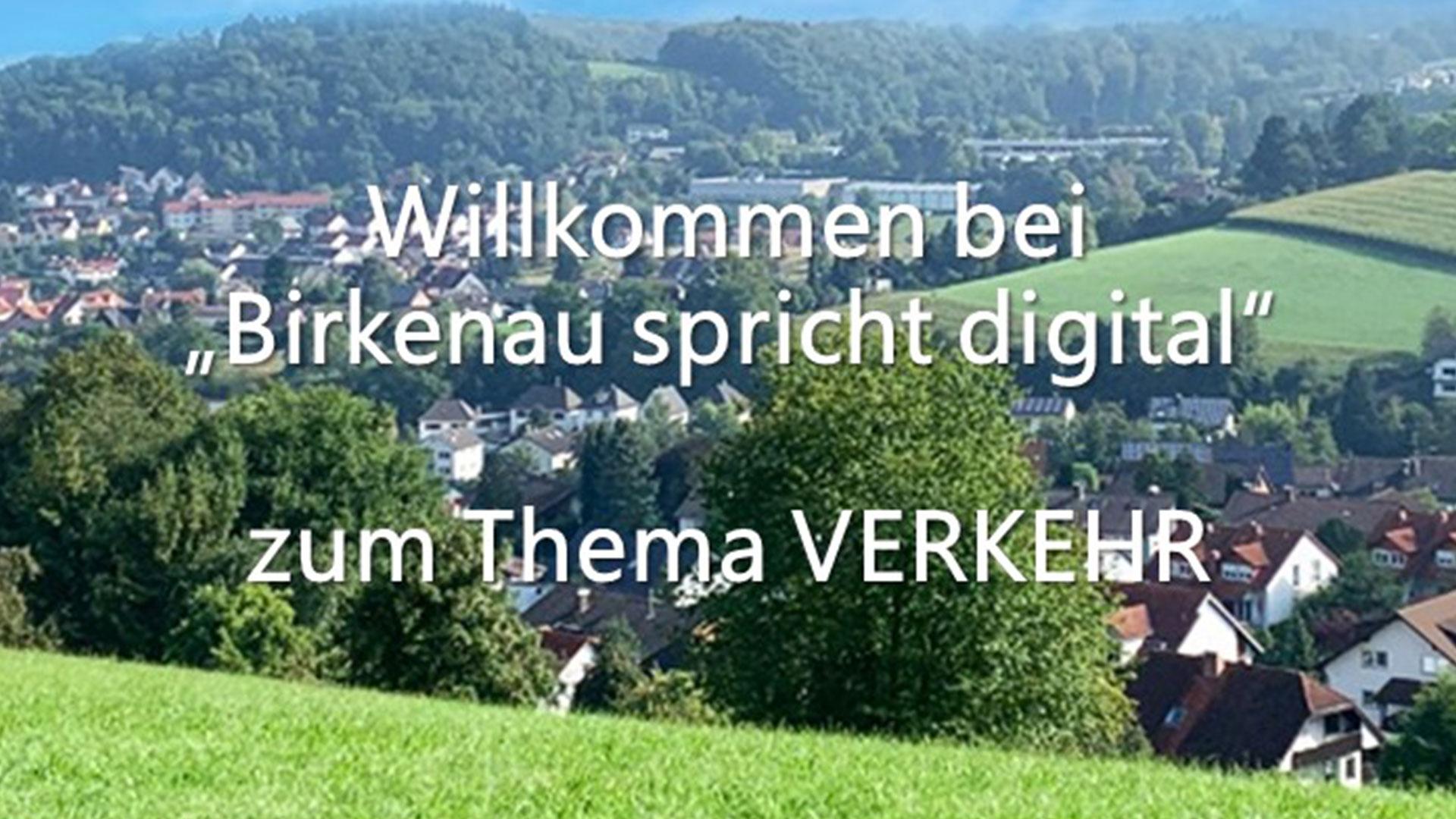 Birkenau spricht digital – Thema Verkehr